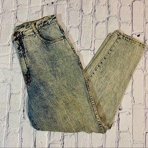 Vintage High Waisted Gitano Stone Acid Wash Jeans